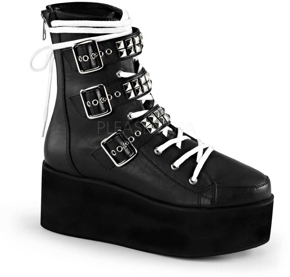 Adult damen 2 3 4  Pf Lace-up Ankle Buckle Straps Back Zip schuhe Stiefel
