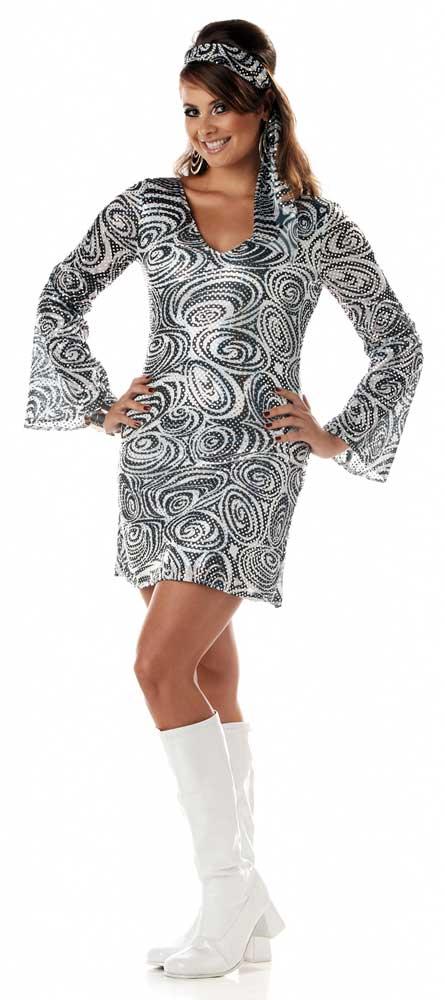 Adult Women Disco Diva Costume Plus Size Ebay