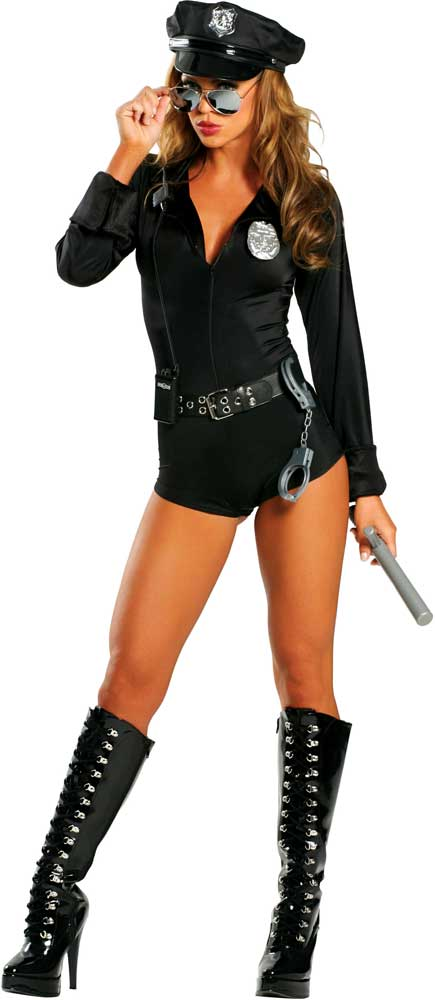 ... Picture 2 of 2  sc 1 st  eBay & Womens Cop Police Officer Halloween Costume Outfit Dance Gogo Roma ...