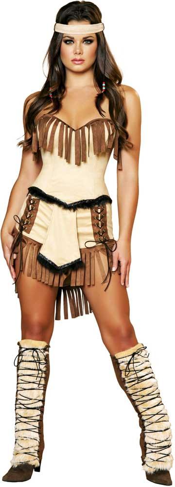 Adult-Women-Indian-Lust-Mistress-Native-American-Costume-  sc 1 st  eBay & Adult Women Indian Lust Mistress Native American Costume Halloween ...