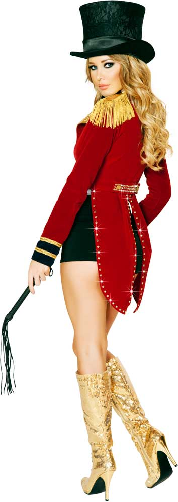 Sexy Glamorous Circus Ringleader Ringmaster Halloween Costume Outfit