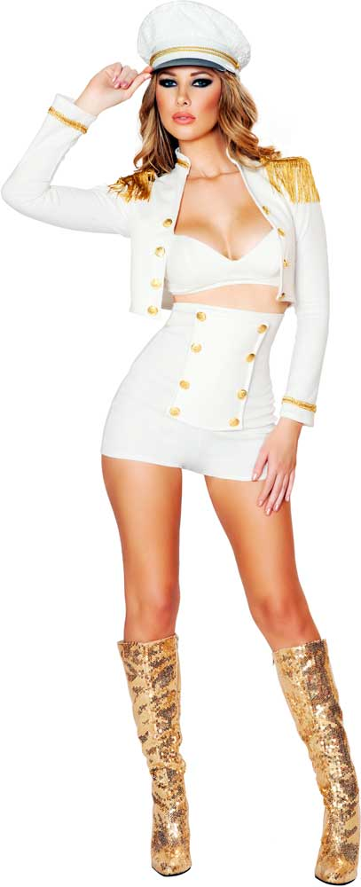 Details About Sultry Sailor Babe Boat Captain Admiral Hot Halloween Costume  Outfit Adult Women