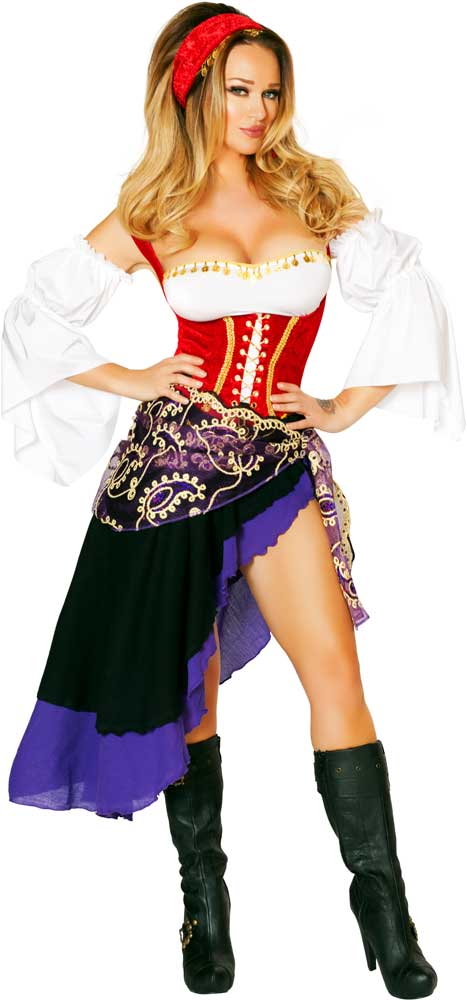 sexy gypsy maiden nomad vagabond esmeralda halloween costume