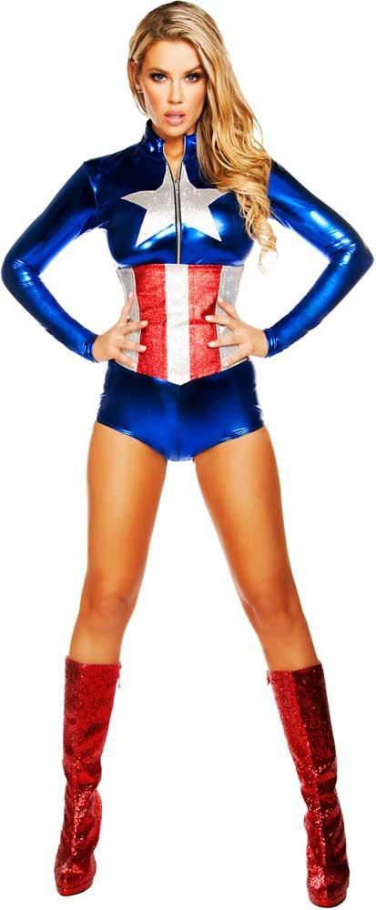 disfraces mujer capitan america