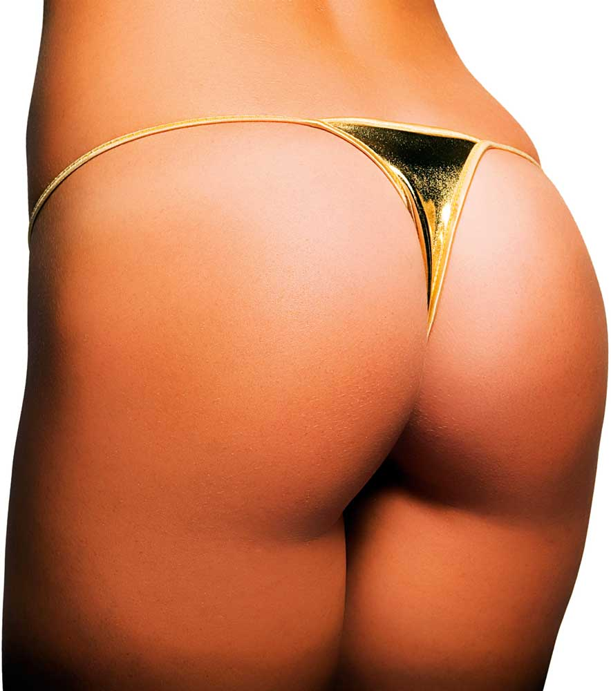 cfa8655e7f Skimpy Low Cut Bikini Bottom Metallic Thong Panty Panties Clubwear ...