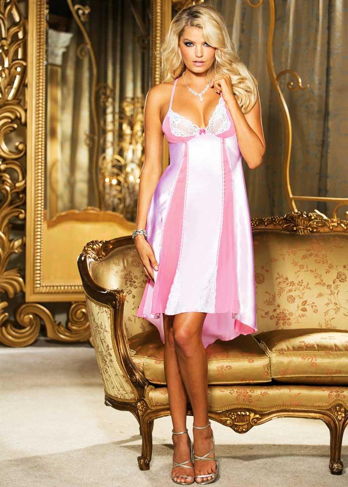 Elegant Nightwear Ballerina Lace Gown Long Dress Lingerie Adult ...