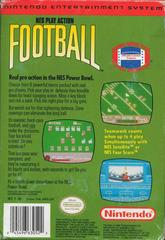Back Cover   Play Action Football NES