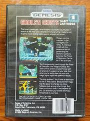 Back Cover | Ghouls 'N Ghosts Sega Genesis
