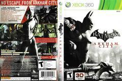 Artwork - Back, Front   Batman: Arkham City Xbox 360