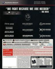 Back Cover | Metal Gear Solid: The Legacy Collection [Artbook Bundle] Playstation 3
