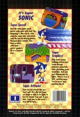 Back Cover | Sonic the Hedgehog [Not for Resale] Sega Genesis