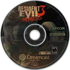 Disc   Resident Evil 3 Nemesis Sega Dreamcast