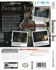 Back Cover | Resident Evil Archives: Resident Evil Wii