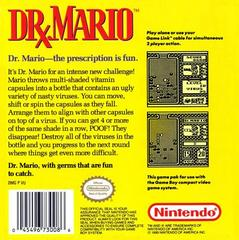 Back Cover | Dr. Mario GameBoy