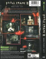 Back Cover   Fatal Frame 2 Xbox
