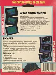 Reverse Of Box | 2 on One : Wing Commander & Skyjet Commodore 64