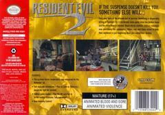 Back Cover | Resident Evil 2 Nintendo 64