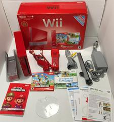 Complete Box Content   Red Nintendo Wii System Wii