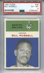 Bill Russell Basketball Cards 1961 Fleer Prices
