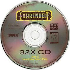 Fahrenheit - Disc 2 | Fahrenheit Sega 32X
