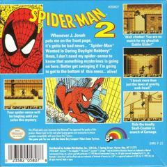 Amazing Spiderman 2 - Back | Amazing Spiderman 2 GameBoy