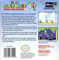 Back Cover | Super Mario Advance 2 GameBoy Advance