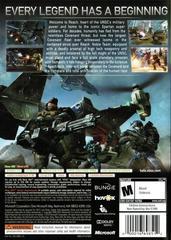 Back Cover | Halo: Reach Xbox 360