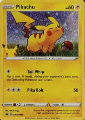 Pikachu 25th Anniversary Card SWSH039 HOLO Promo Pokemon General Mills PACK FRSH