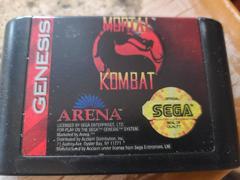 Cartridge (Front) | Mortal Kombat Sega Genesis