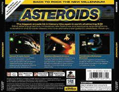 Back Of Case | Asteroids Playstation