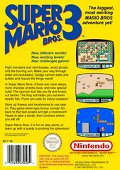 Super Mario Bros 3 - Back | Super Mario Bros 3 NES
