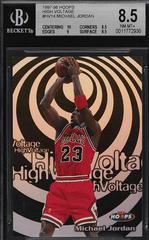 Michael Jordan Basketball Cards 1997 Hoops High Voltage Prices