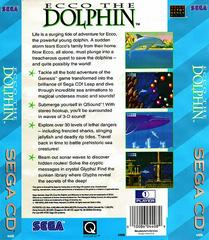 Ecco The Dolphin - Back   Ecco the Dolphin Sega CD
