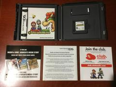 Inside Box With Instruction Manuals And Game | Mario & Luigi: Bowser's Inside Story Nintendo DS