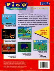 Back Cover | A Year at Pooh Corner Sega Pico