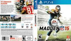 Artwork - Back, Front   Madden NFL 15 Playstation 4