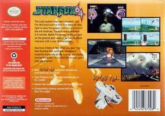 Back Cover | Star Fox 64 Nintendo 64