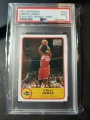 LeBron James [Road Red Jersey] Basketball Cards 2003 Bazooka Prices