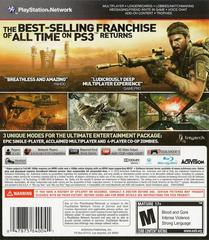 Back Cover | Call of Duty Black Ops Playstation 3