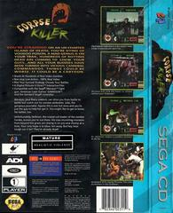 Corpse Killer - Back | Corpse Killer Sega CD