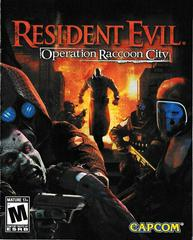 Manual - Front | Resident Evil: Operation Raccoon City Playstation 3