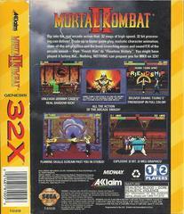 Mortal Kombat II - Back | Mortal Kombat II Sega 32X