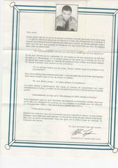 Letter From Mike (Canadian Version) French   Mike Tyson's Punch-Out NES