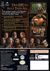Back Cover   Lord of the Rings Third Age Gamecube