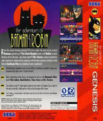 Adventures Of Batman And Robin - Back | Adventures of Batman and Robin Sega Genesis