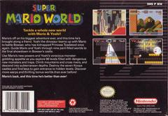 Back Cover | Super Mario World Super Nintendo