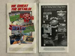 Back Of Manuals | Daytona USA Championship [Net Link Edition] Sega Saturn