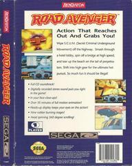 Road Avenger - Back | Road Avenger Sega CD