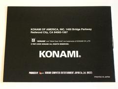 Manual - Back | Metal Gear Solid GameBoy Color