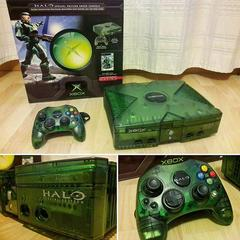Console/Controller/Packaging | Xbox System [Green Halo Edition] Xbox
